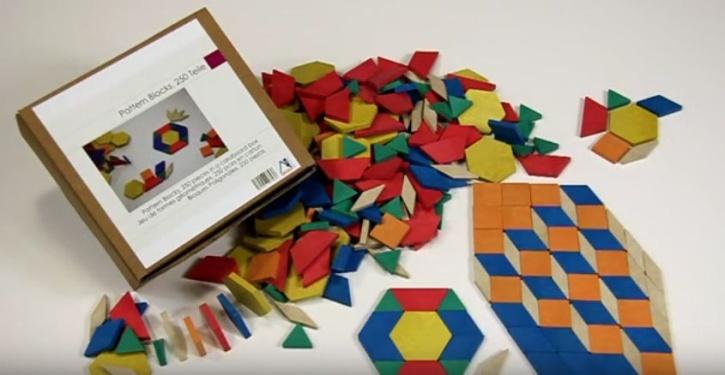 Pattern Blocks, 250 Stück, geometrische Grundformen