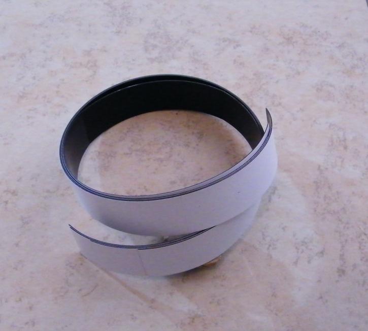 Magnetstreifen, Magnetband, selbstklebend , 50 x 2cm