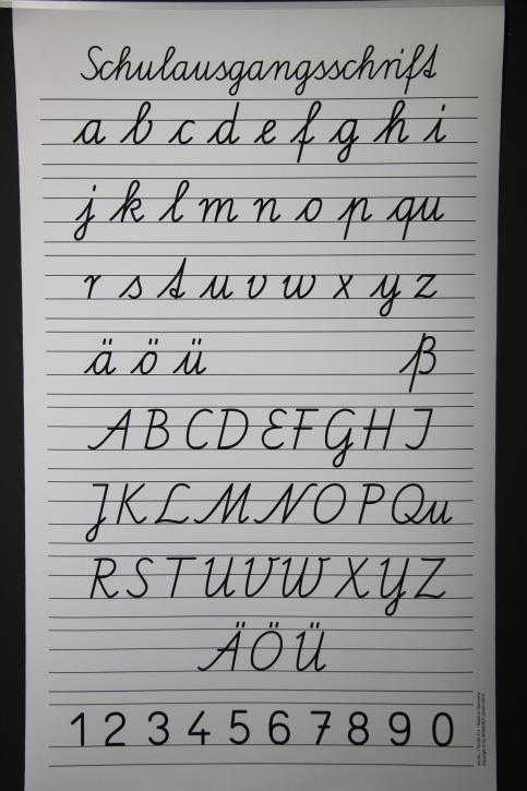 Rollbare Schrifttafel, Schulausgangsschrift SAS