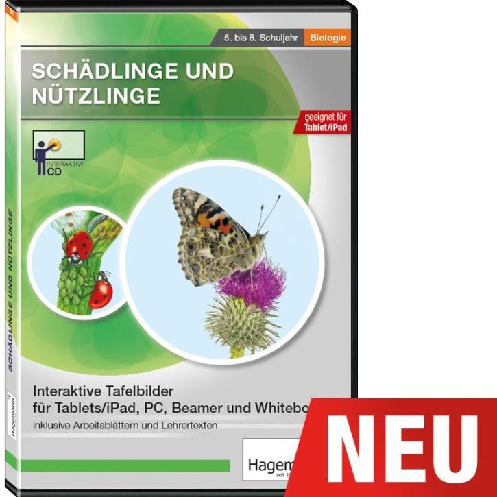 Interaktive Tafelbilder Schädlinge und Nützlinge tabletfähig, Schullizenz