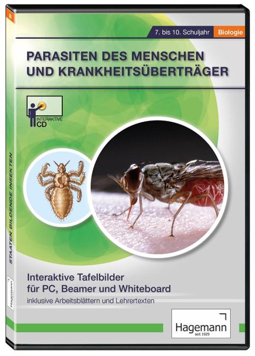 Interaktive Tafelbilder Parasiten des Menschen und Krankheitsüberträger, Schullizenz