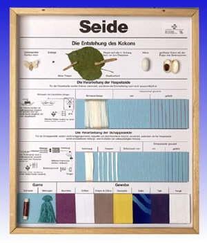 Technologie Schaukasten Fasern: Naturseide