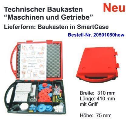 Technischer Baukasten, Maschinen und Getriebe, im Kunststoffkoffer