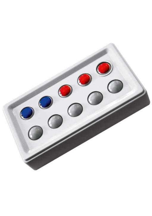 Abaco 10 tricolor, rot/blau