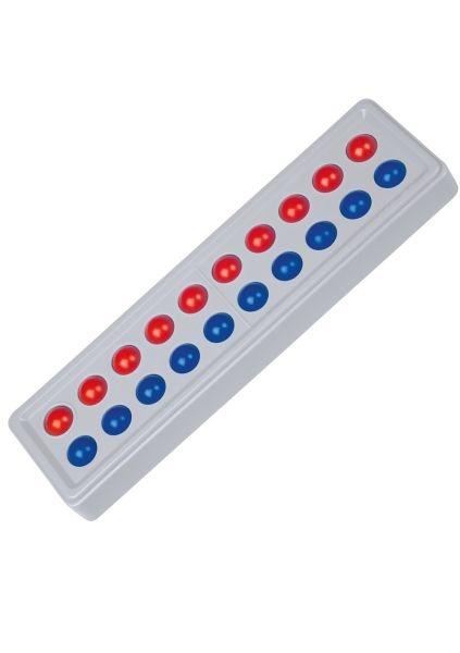 Abaco 20 Modell A, 10/10 Kugeln, rot/ blau