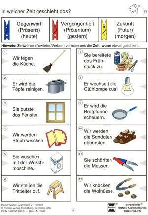 Bergedorfer Colorclips, Grammatik 2, Verben