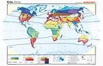 Wandkarte Die Erde, Klimazonen nach Lauer/Frankenberg, 200x140cm