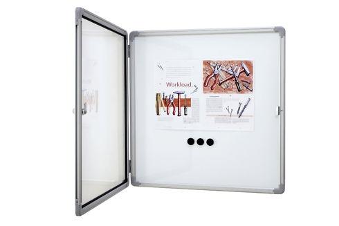 Schaukasten für innen, extra flach, magnethaftend, für 4x DIN A4