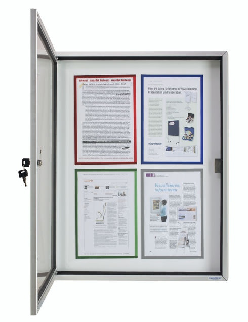 Schaukasten CC für Außen, mit Acryl-Sicherheitsglas, für 4 DIN A4