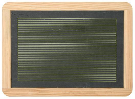 Schiefertafel 29,5 x 21,8 cm mit Zeilen