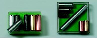 Metallzylinder, gleiche Masse, (6 Stück)
