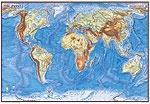Posterkarte Die Erde, physisch (P) 100x70cm