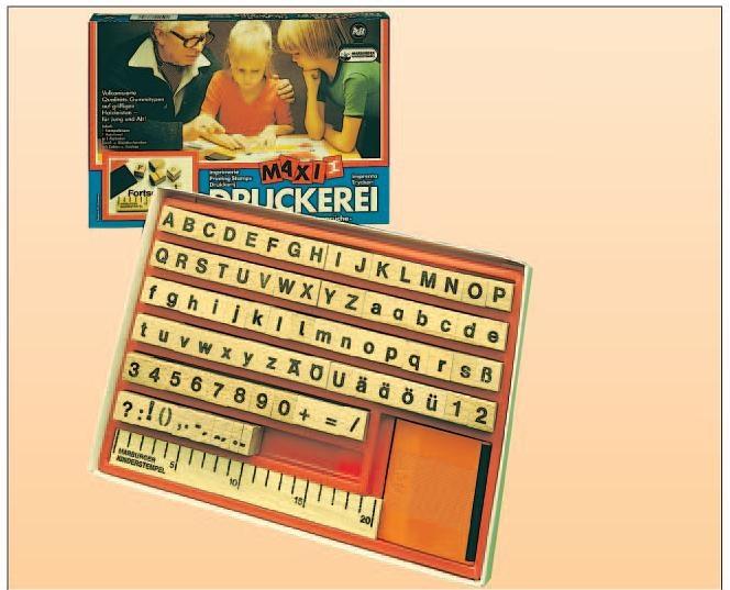 Druckerei Maxi II, 88 Stempel Groß- und Kleinbuchstaben Ziffern