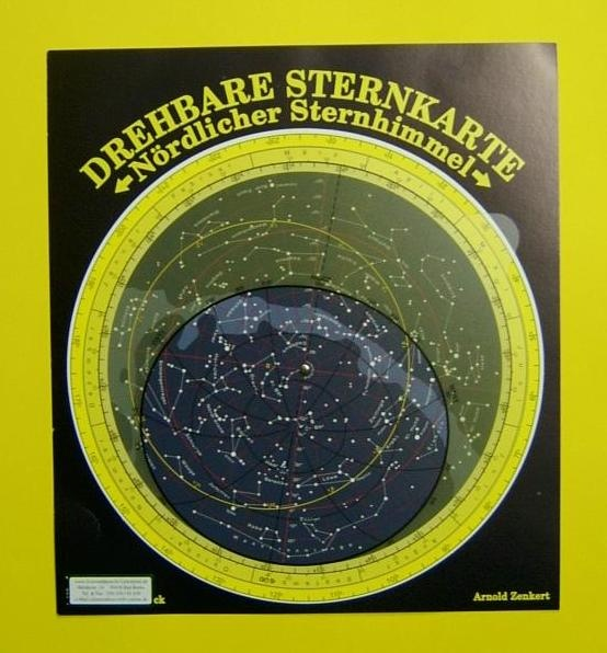 Große drehbare Sternkarte ohne Planetzeiger, Ø26cm