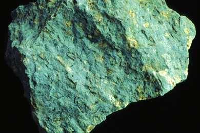 Andesit, Gesteinsdünnschliff Dauerpräparat