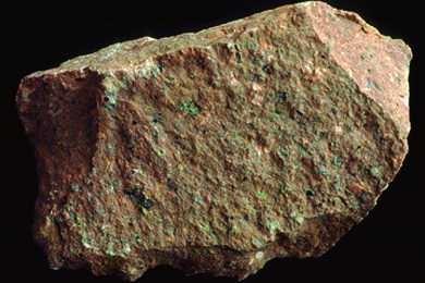 Rhyolit, Gesteinsdünnschliff Dauerpräparat