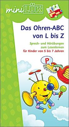 mini-Lük Heft Das Ohren-ABC von L  bis Z