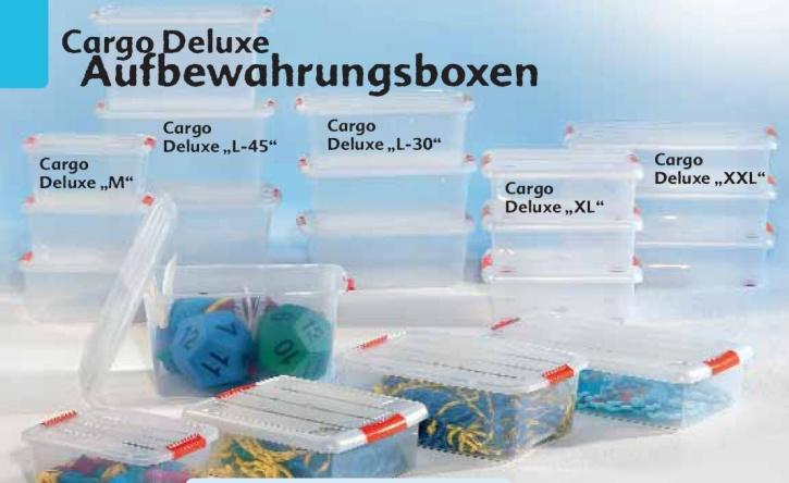Aufbewahrungsbox, tranparent, CargoDeluxe M, ca. 20 Liter