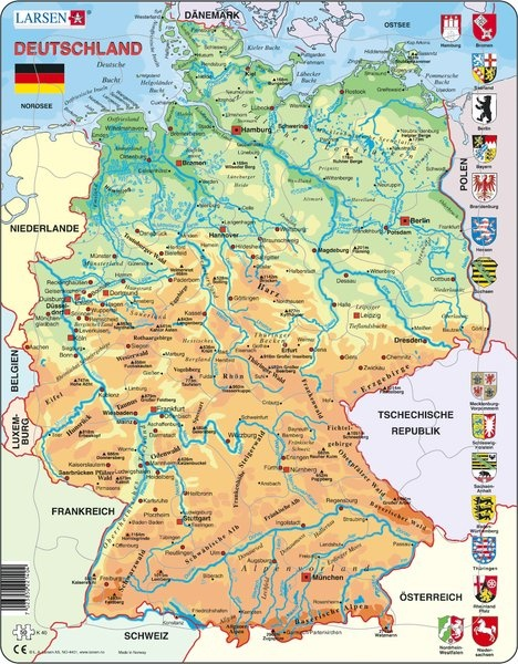 Puzzle - Deutschland, physisch