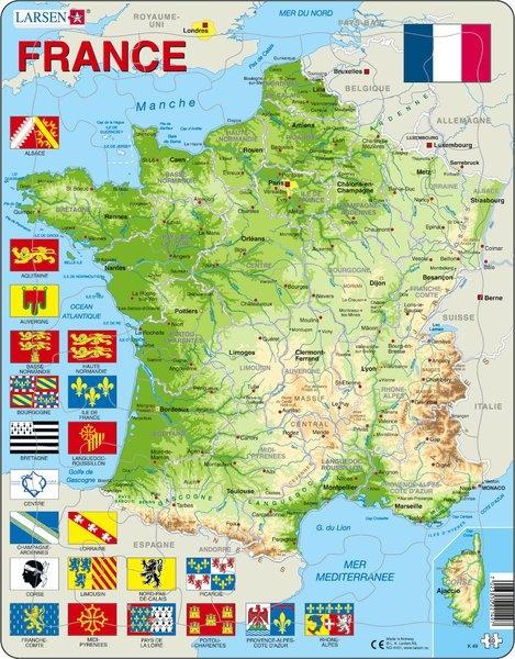 Puzzle - France, französisch, physisch, Format 36,5x28,5 cm, Teile 60