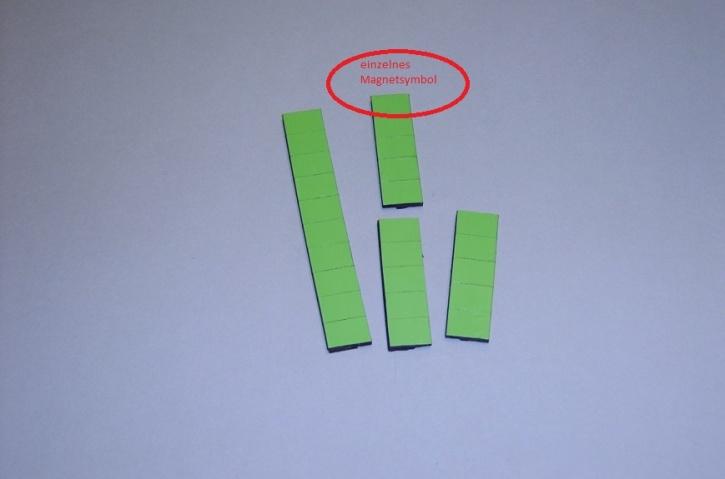Magnetsymbol für Zusatzplan, 10x15mm, hellgrün