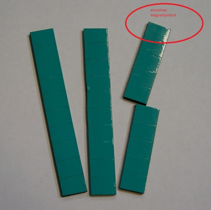 Magnetsymbol für Zusatzplan, 10x15mm, türkis