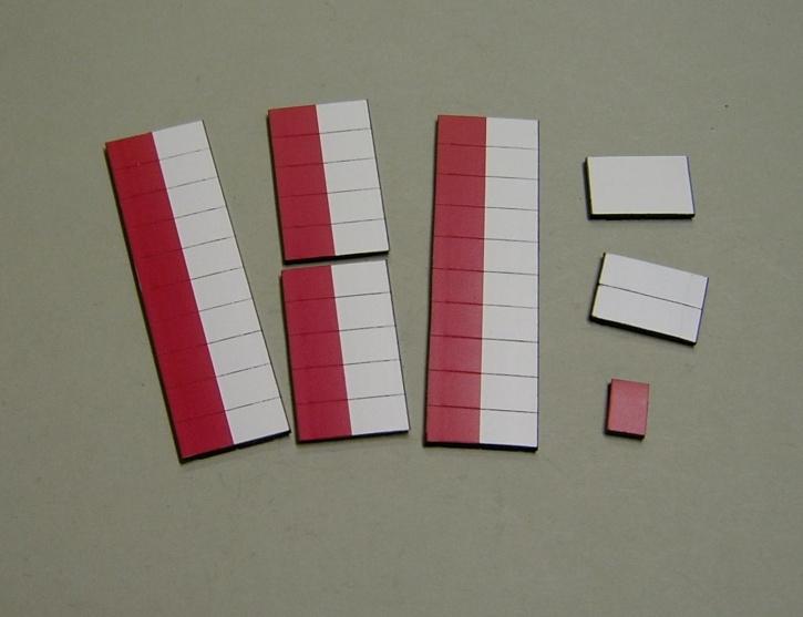 Satz Kippmagnete für Stundenplan, halb violett/ halb weiß