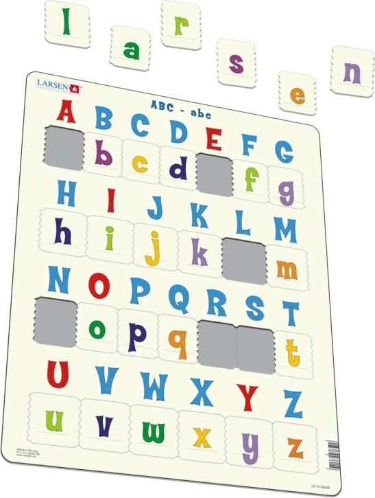 Puzzle - ABC-abc, Format 36,5x28,5 cm, Teile 26
