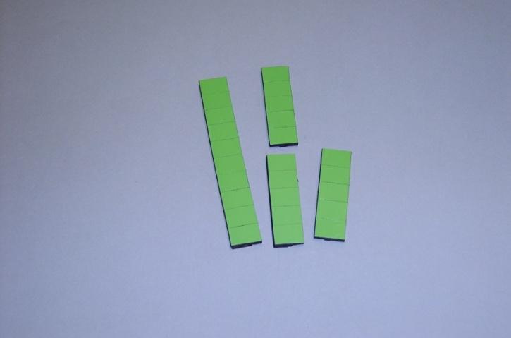 Satz Kippmagnete für Zusatzpläne, hellgrün