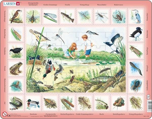 Puzzle - Am Teich,  Format 36,5x28,5 cm, Teile 48
