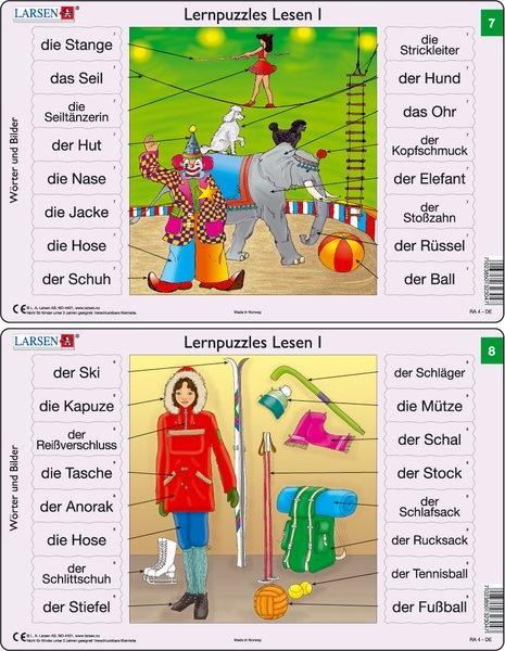Puzzle - Lernpuzzles Lesen I (7 und 8) Format je Puzzle 28,5x18,
