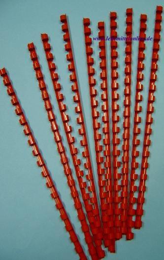 Plastik-Binderinge, 14mm Ø, Farbe rot, (100 Stück) für 125 Blatt