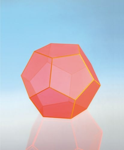 Geometriekörper aus farbigem Acryl, Dodekaeder
