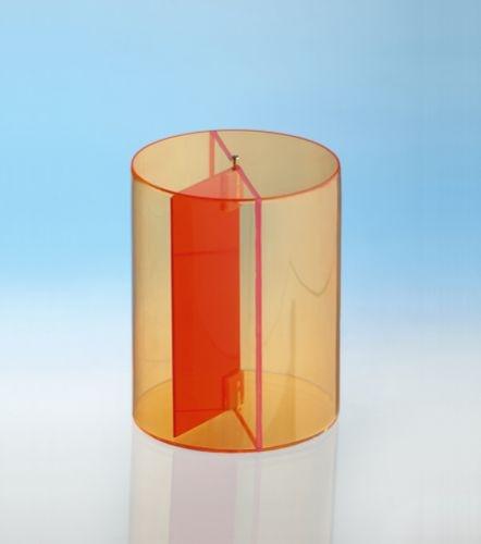 Geometriekörper aus farbigem Acryl, Zylinder