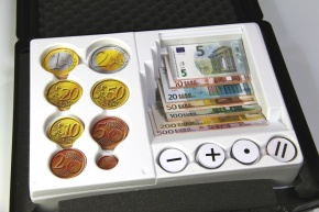 Euro-Geldsatz, magnethaftend, einseitig bedruckt