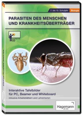 Interaktive Tafelbilder Parasiten des Menschen und Krankheitsüberträger, Verleihlizenz