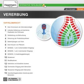 Interaktive Tafelbilder Vererbung tabletfähig, Schullizenz