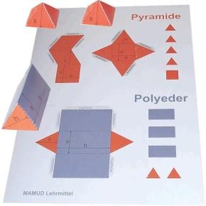 Bastelbogen für Pyramide und Polyeder