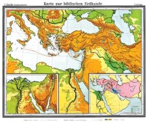 Wandkarte Biblische Länder, 180x150 cm