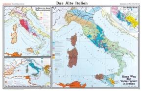 Wandkarte Das Alte Italien, 205x135 cm