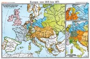 Wandkarte Europa von 1815 bis 1871, 202x147 cm