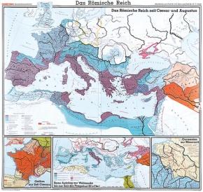 Wandkarte Das Römische Reich, 210x200 cm