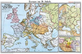 Wandkarte Europa im 18. Jahrhundert, 220x147 cm