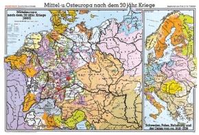 Wandkarte Mittel- und Osteuropa, 202x147 cm