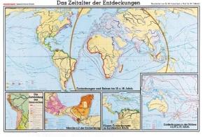 Wandkarte Das Zeitalter der Entdeckungen, 205x140 cm