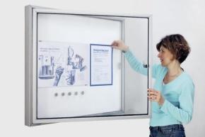 Schaukasten CC für Außen, mit Acryl-Sicherheitsglas, für 6 DIN A4