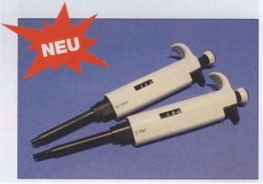 Mikroliterpipette, 20–200 µl für Elektrophorese Versuche