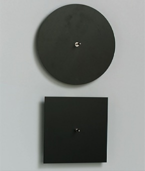 Klangplatten nach Chladni, Satz (2 Stück.)