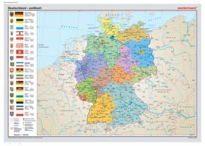Posterkarte Deutschland, politisch (P) 100x70 cm
