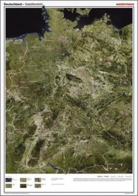 Posterkarten Geographie, Deutschland Satellitenbild